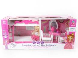BEDROOM SET + LIVINGROOM FOR 46 X20X16 DOLLS