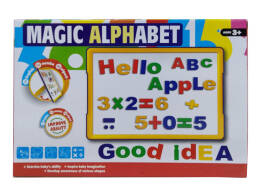 MAGNETIC BOARD WITH SOFT LETTERS 30X22X4.5cm