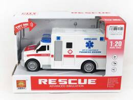 AMBULANCE 21 CM. WITH LIGHT AND SOUND
