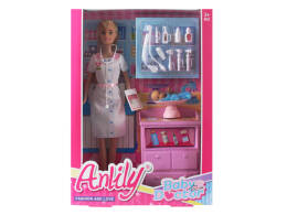 30 CM ANLILY DOLL. DOCTOR + CHILD