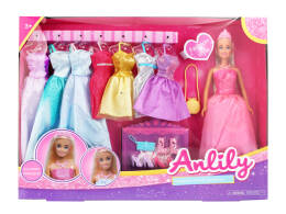 29cm Princess doll with dresses and accessories